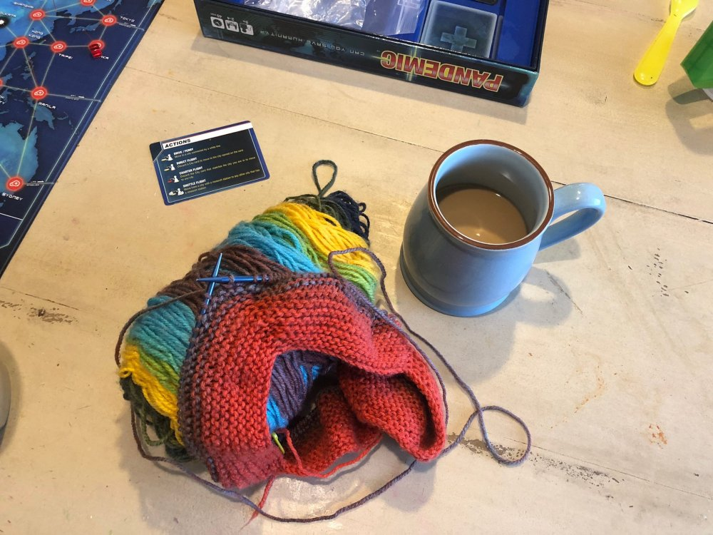 Fall weather aways makes me eager to knit.