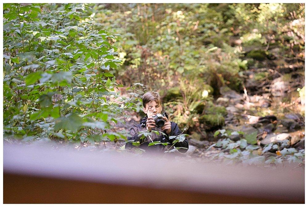 Hezekiah taking photos at Lake Whatcom.