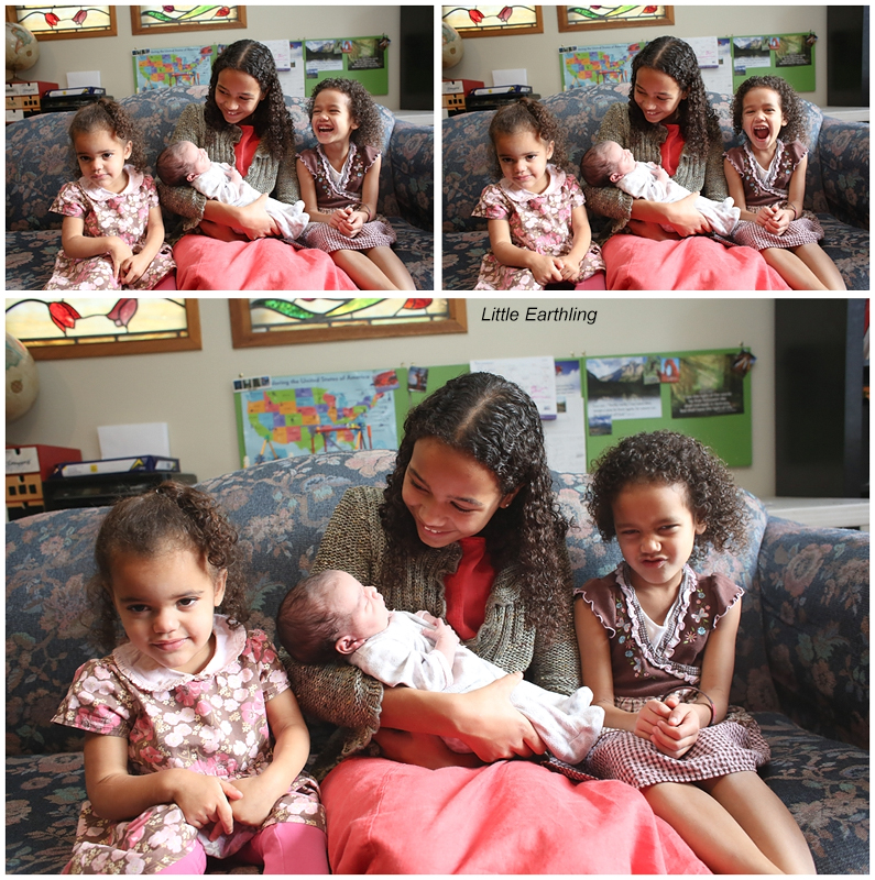 Four beautiful, biracial sisters