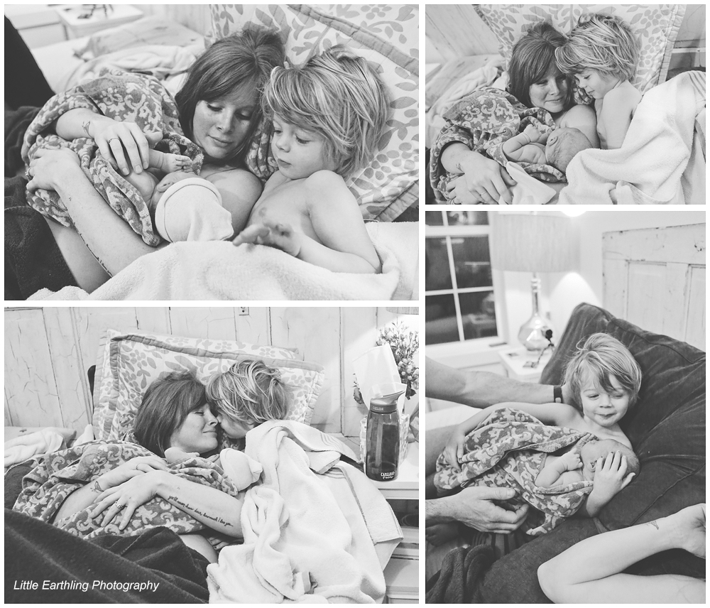 home birth images by bellingham birth photographer Little Earthling Photography