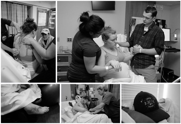 Stunning birth images of a 35 week preemie by Little Earthling Photography of Bellingham, WA.