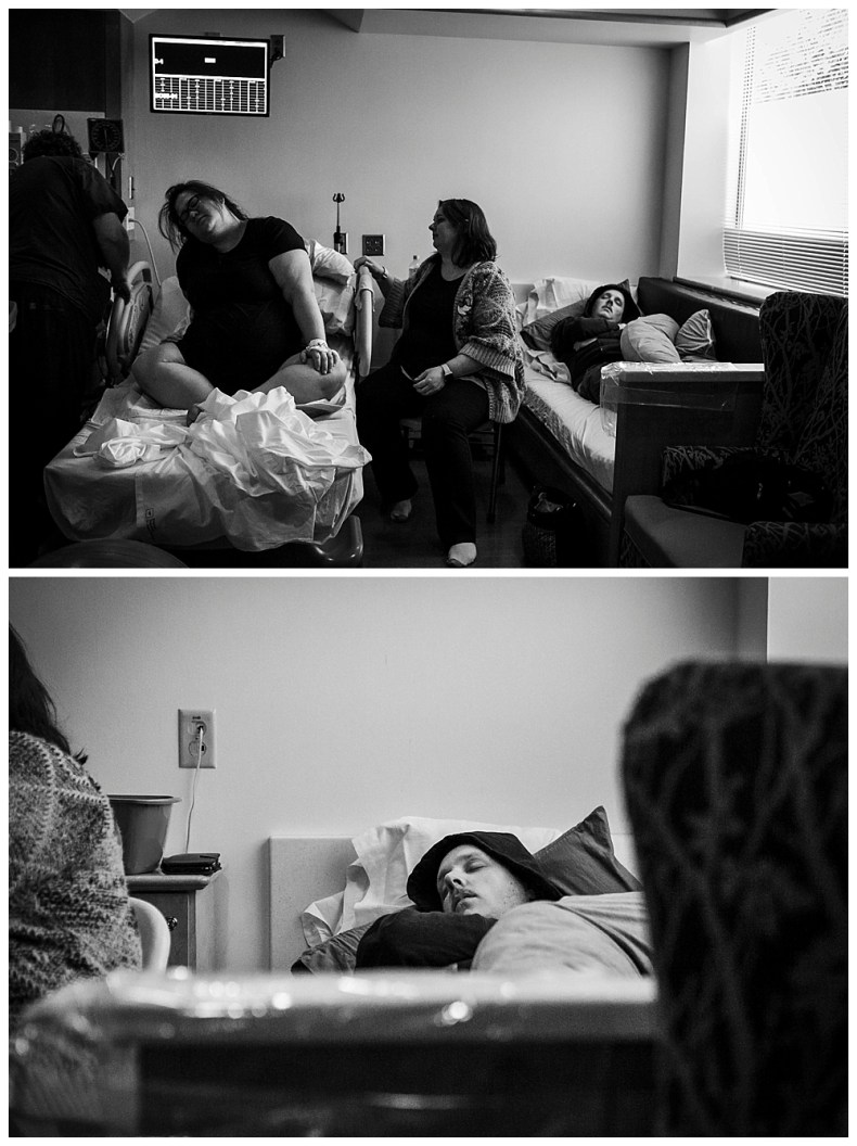 Umiko's natural birth in the hospital was long. First births can often take 12 hours or more.