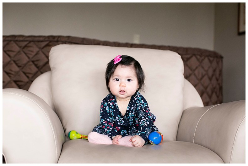 Erin: Six month milestone session by Little Earthling Photography.