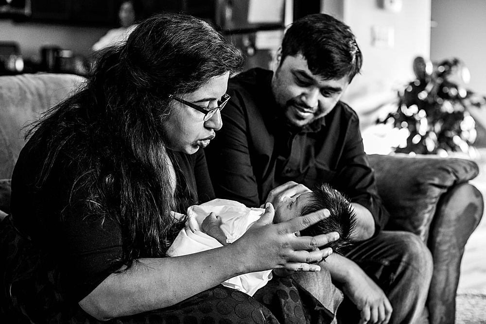 In-home newborn session by Bellingham photographer, Renee Bergeron.