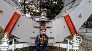 Noah and Waggy at the National Space Centre