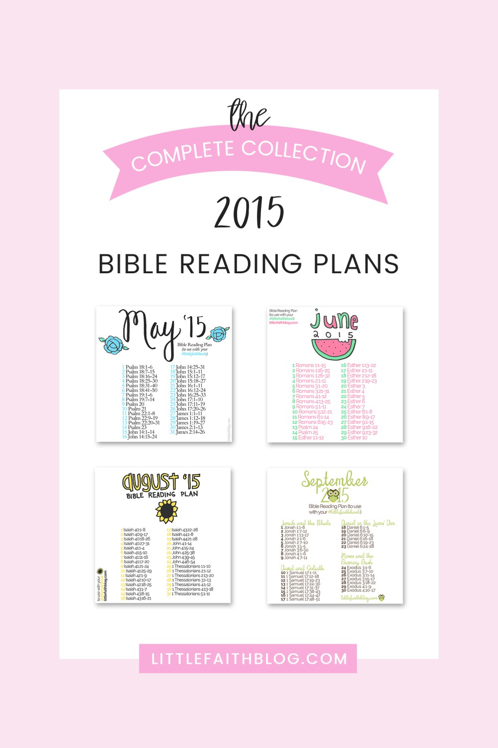 The Complete Collection: 2015 Bible Reading Plans