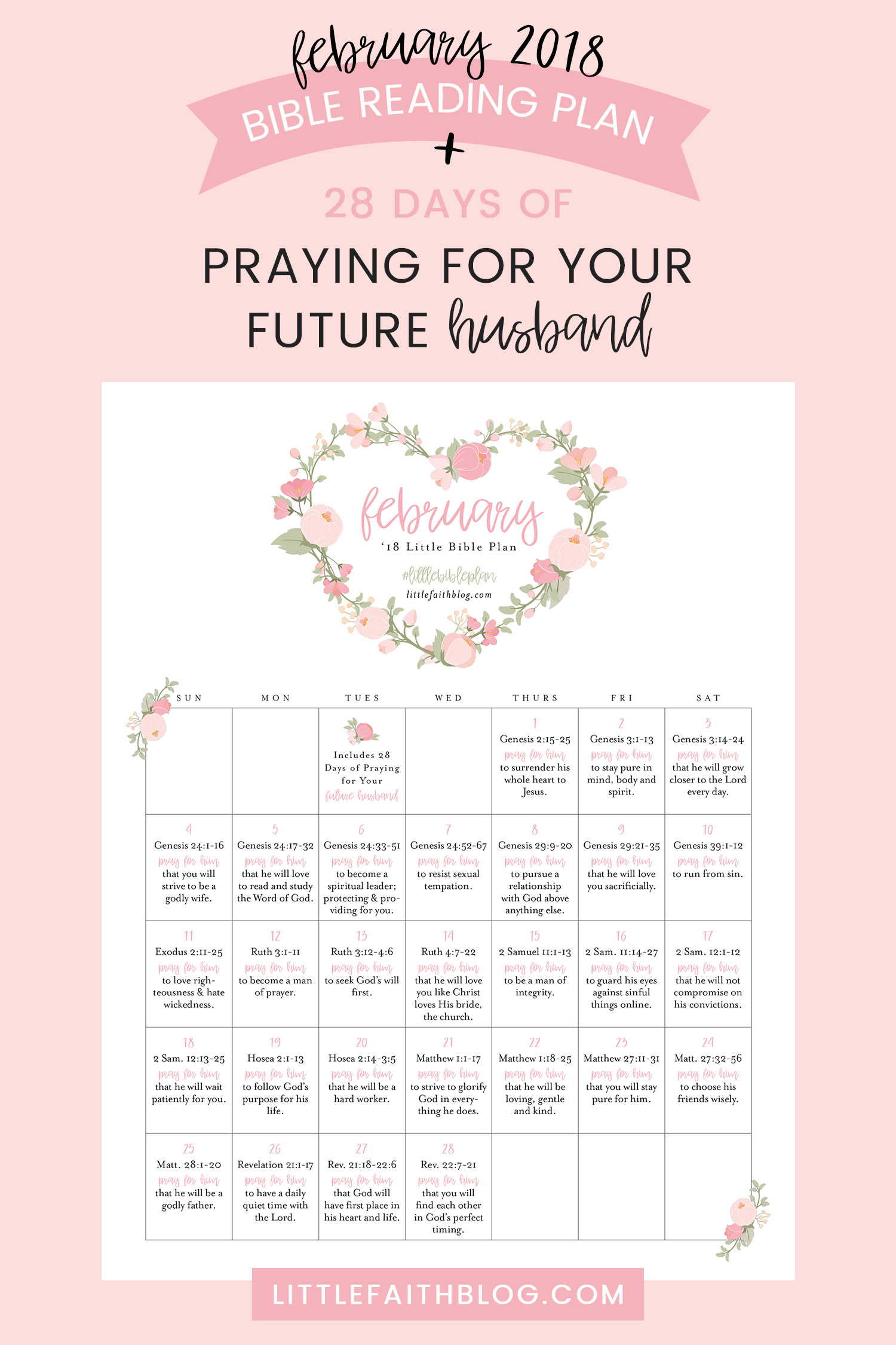 February 2018 Bible Reading Plan + 28 Days of Praying for