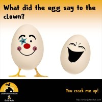 What did the egg say to the clown? You crack me up!
