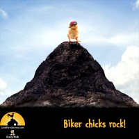 Biker chicks rock!