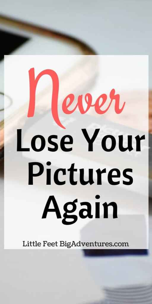 Never lose your photos again. Having a way to backup your photos is key to preserving your story!
