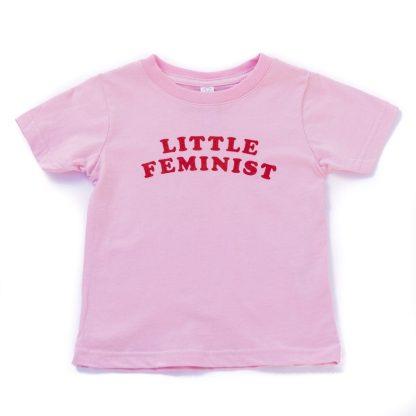 Little Feminist pink kid's shirt