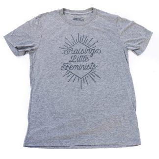 Raising Little Feminists grey men's shirt
