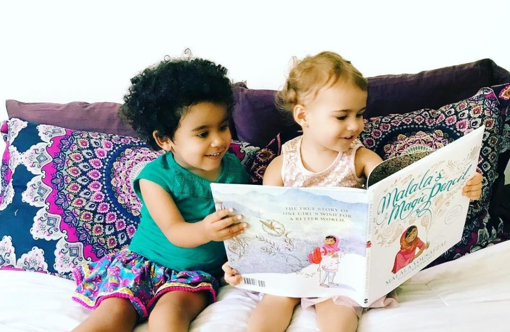 Two Little Feminists reading