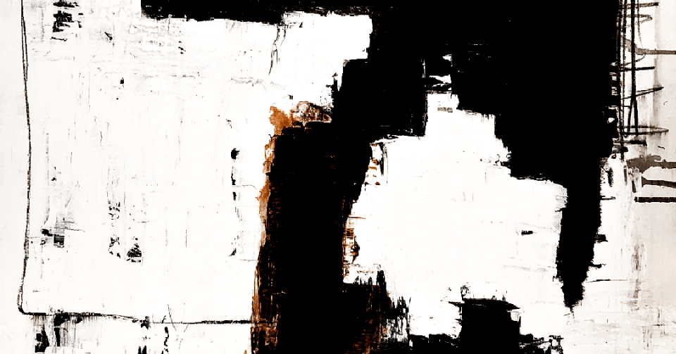 white abstract painting detail