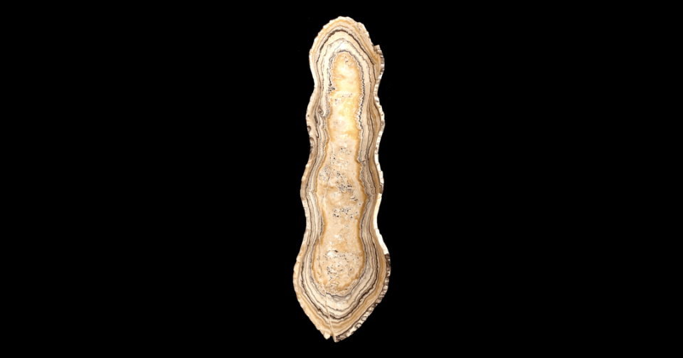 nacre neutral onyx bowl vertical view
