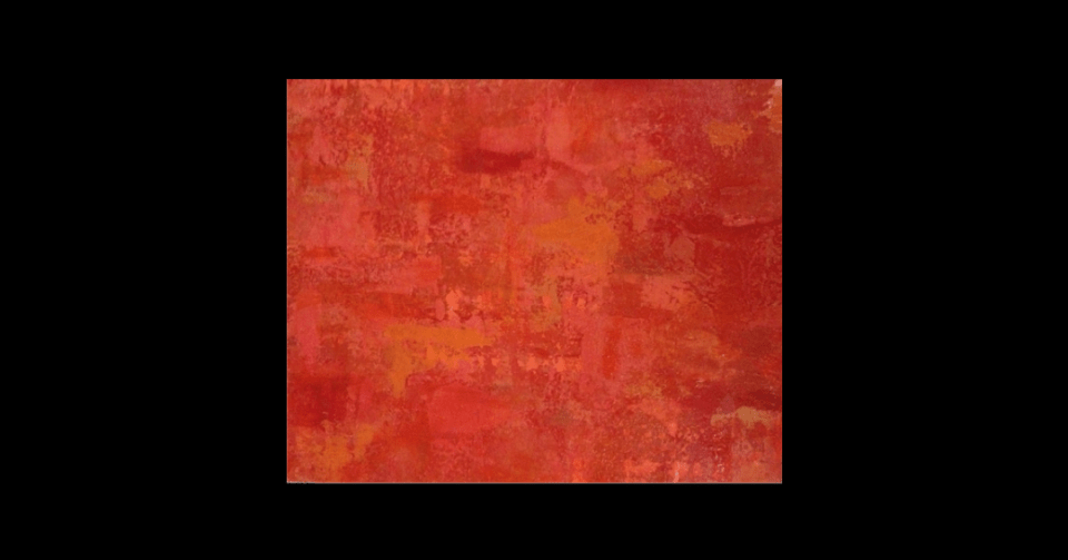 """""""Woman in Red"""" by Carolyn Moore horizontal view"""