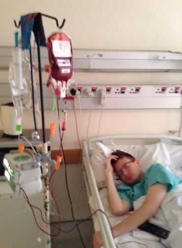 First blood transfusion after chemo at Netcare Unitas Hospital 21 October