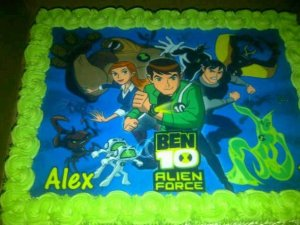 Alex's Ben 10 Birthday Cake