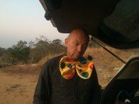 Jan van Deventer clowning around