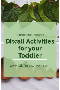 Montessori Inspired Diwali Activities www.littlefingersatwork pinterest