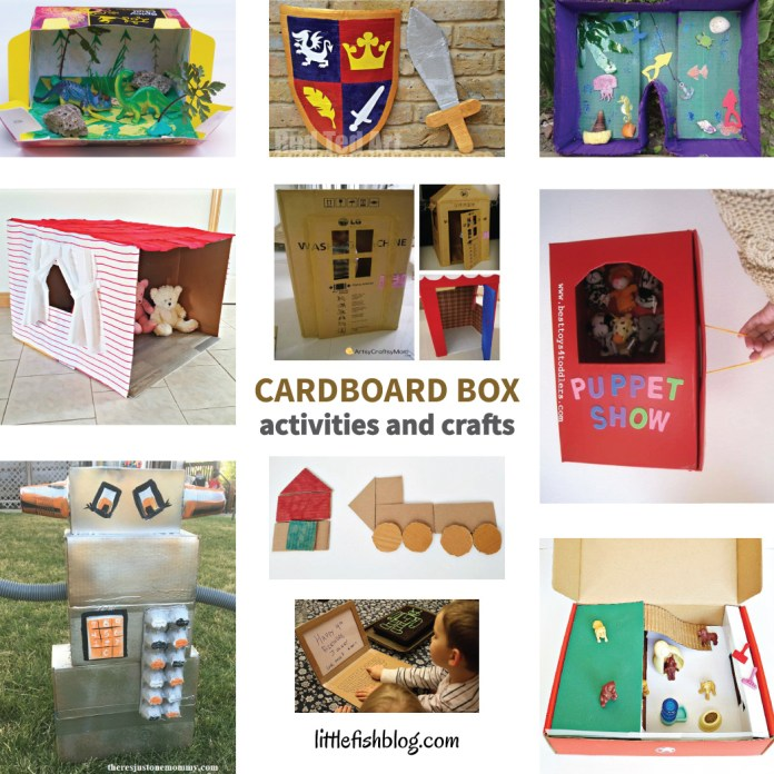 Simple Cardboard Box Activities And Crafts For Kids Little Fish