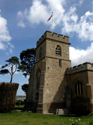 Photo of church tower (external view)