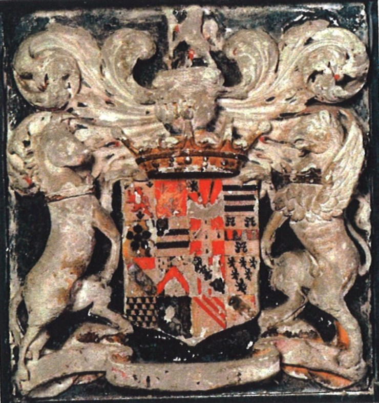 The arms of John Egerton, the first Earl of Bridgwater and the father of the second Earl
