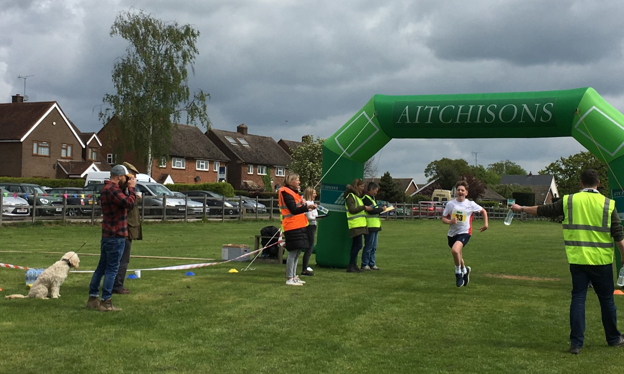 Photo of the finish line of the Gaddesden Gallop