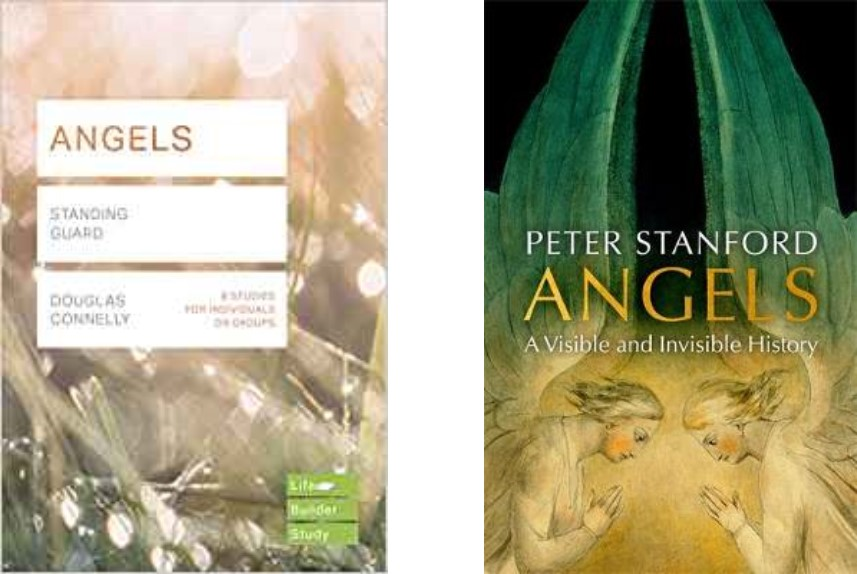 Covers of two books on angels
