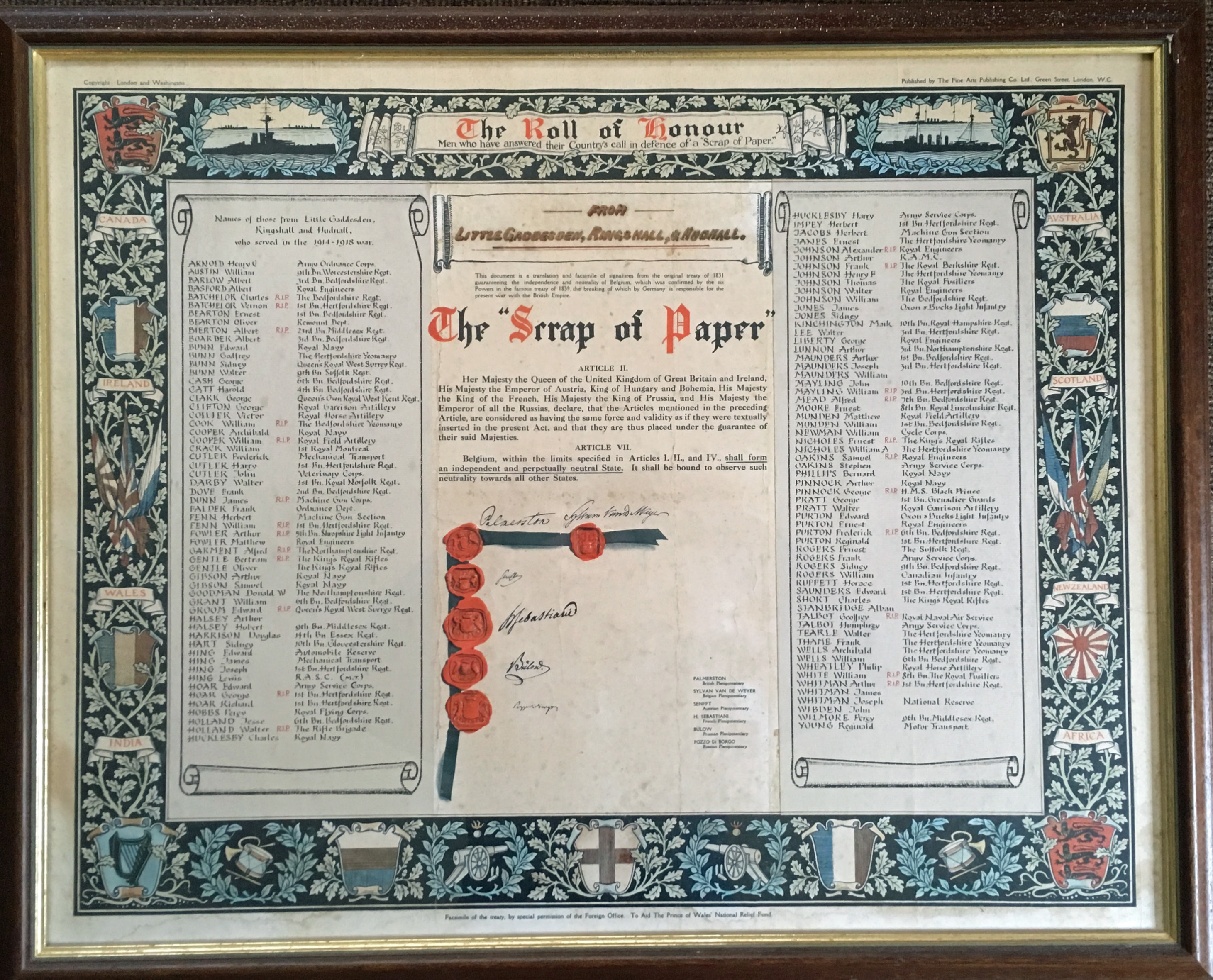 Photo of Church Roll of Honour
