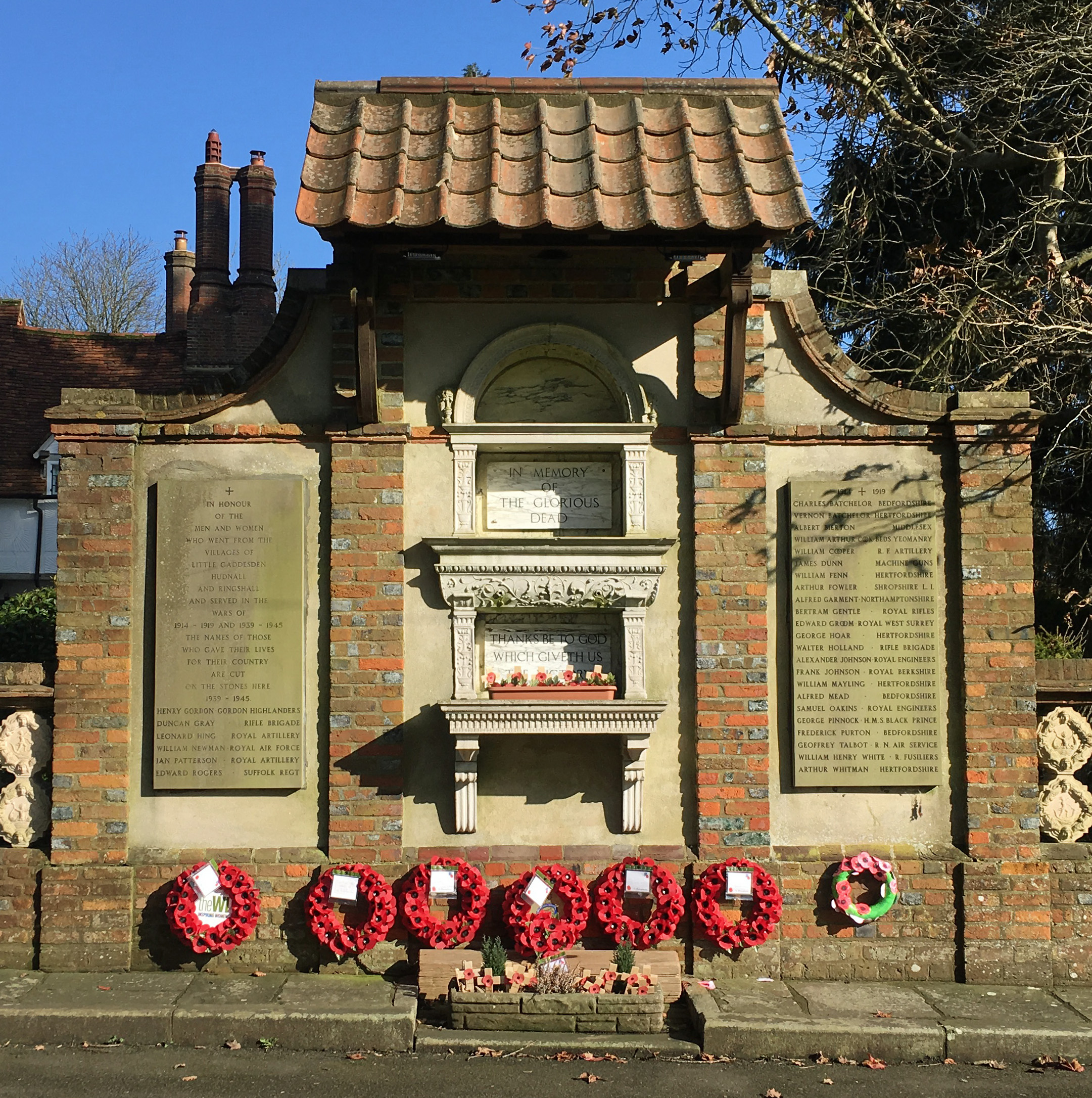 Photo of Little Gaddesden War memorial on Village Green