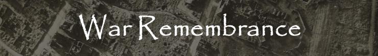 War remembrance header