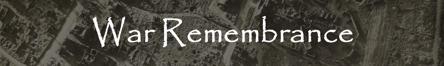 War remembrance header