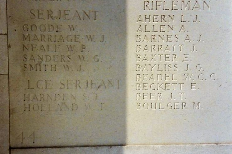 Photo of Holland Walter's commemoration at  Le Touret