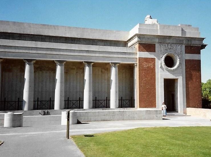 Photo of the Menin Gate, (south loggia)