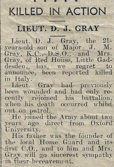 Image of Duncan Gray's obituary