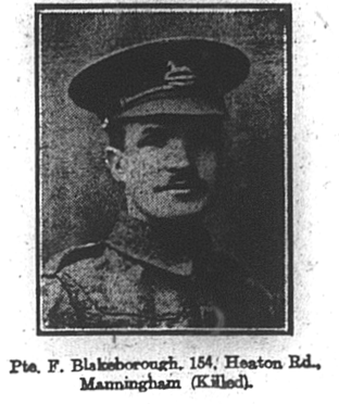 Photo of Private Fred Blakeborough