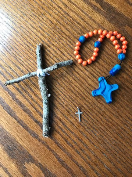 Photo of crosses on table