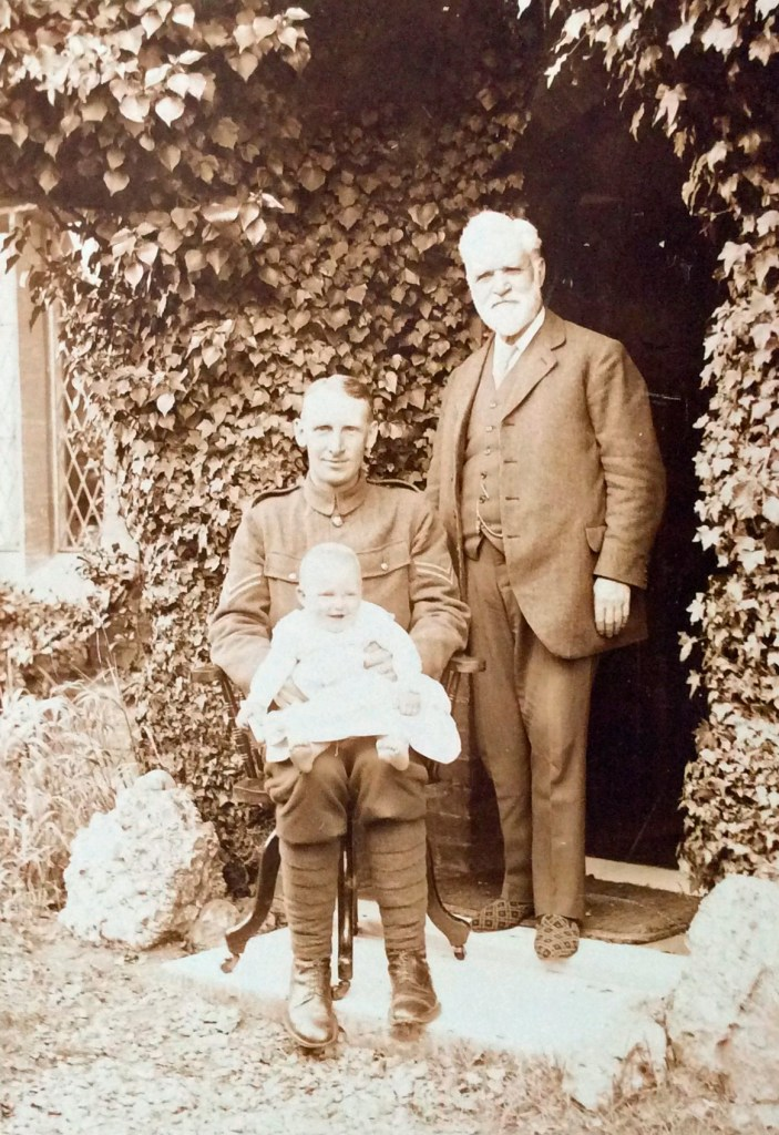 Photo of Douglas Harrison, his father and Billy