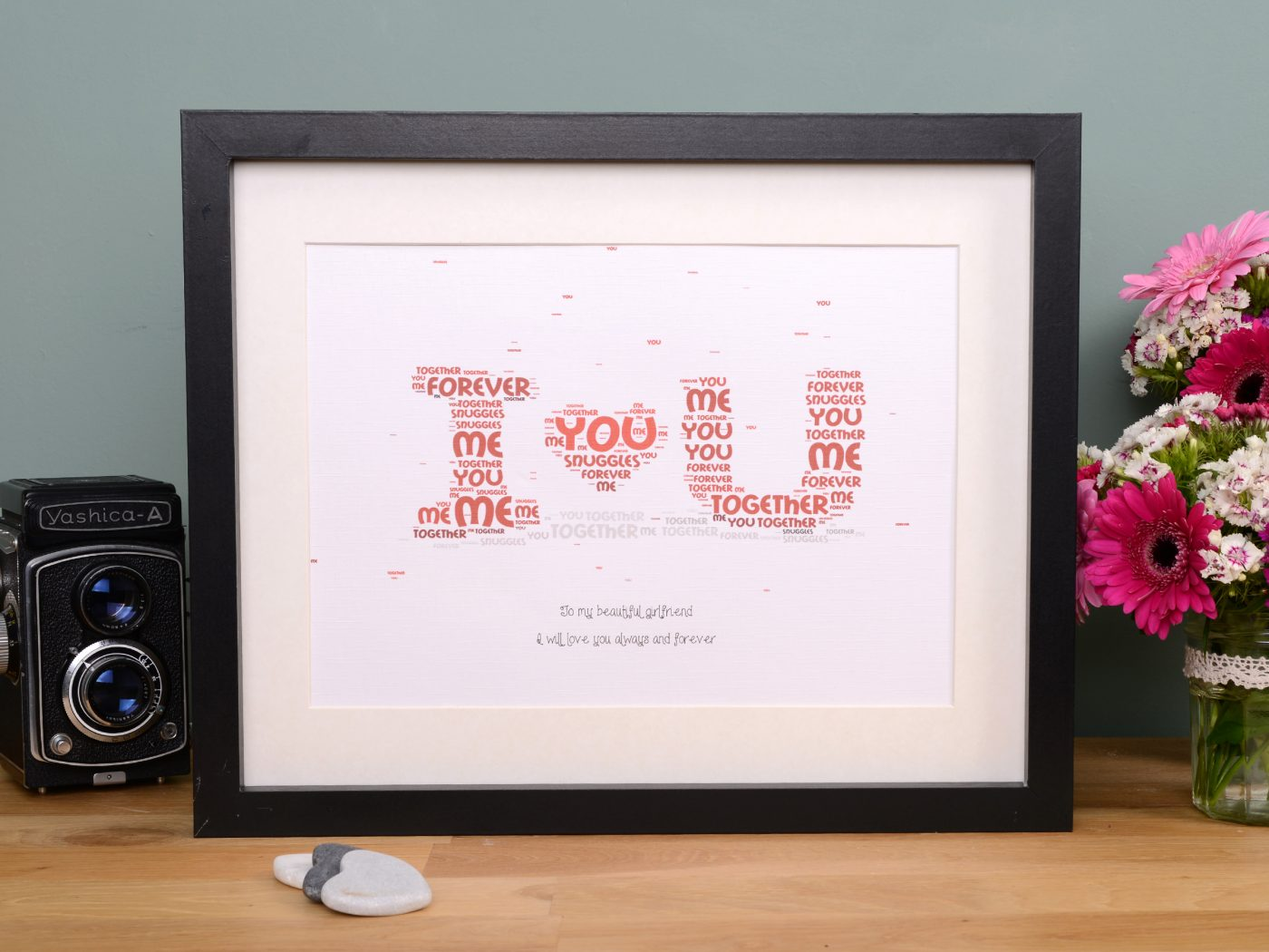 Personalised i love you gift frames