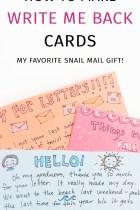 Write Me Back – A Simple Gift Idea