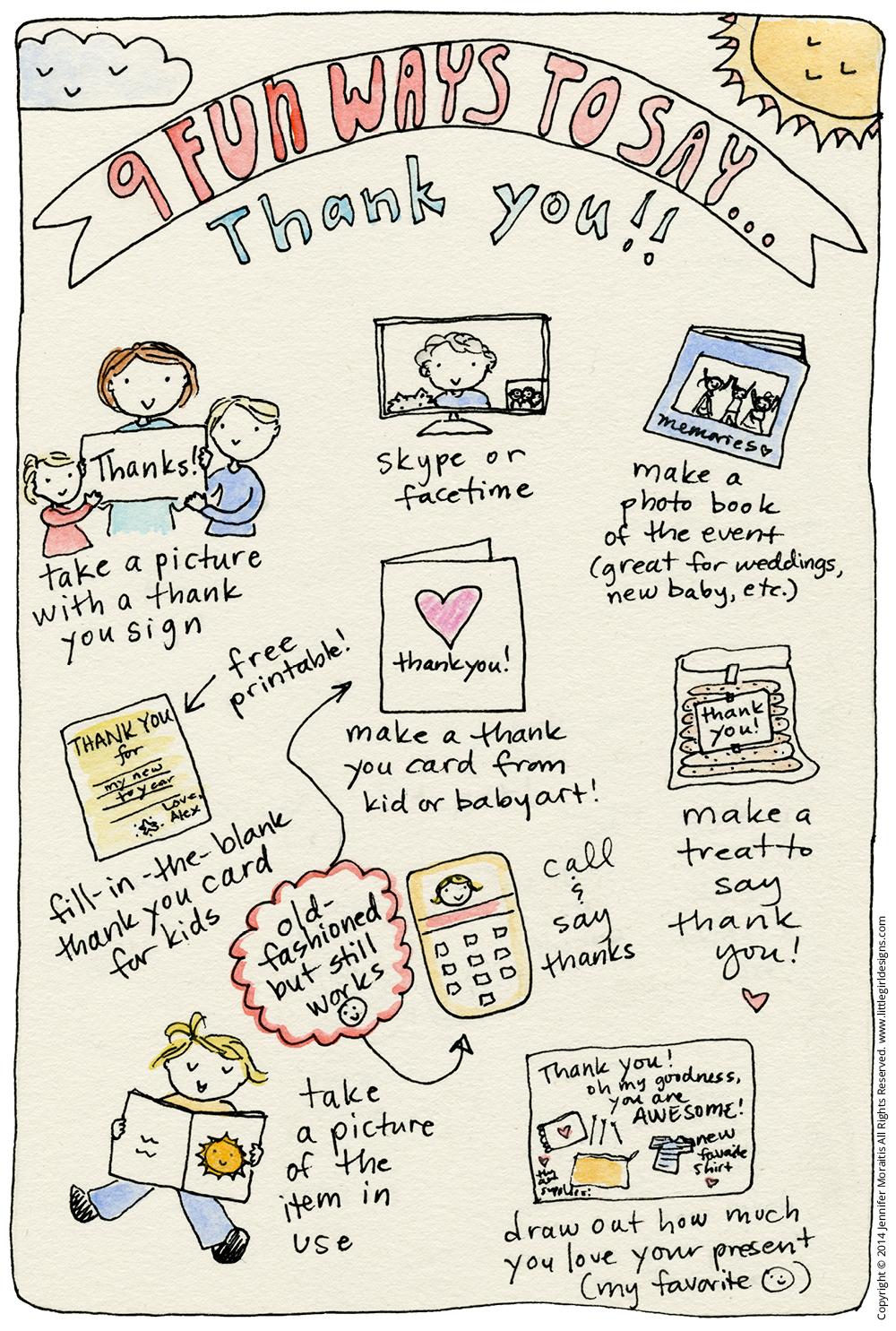 9 Fun Ways To Say Thank You Sketch