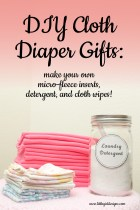 I'll show you how to make your own microfleece inserts, cloth diaper friendly detergent, and cloth wipes. The perfect gift for the new mom who is cloth-diapering! @littlegirldesigns.com