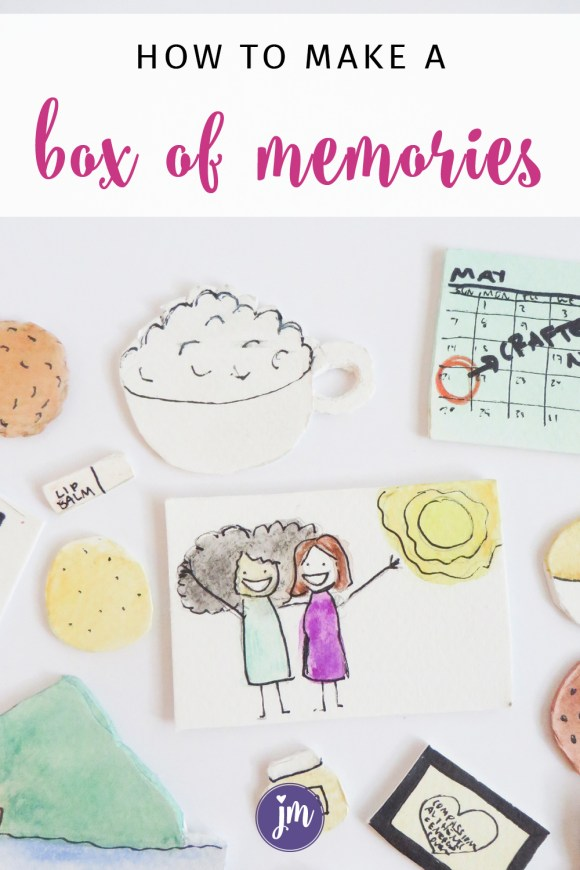 Best gift ever. My friend made me a tiny box of memories when I moved out of state, and I love it so much. Super easy craft that your friend will LOVE.