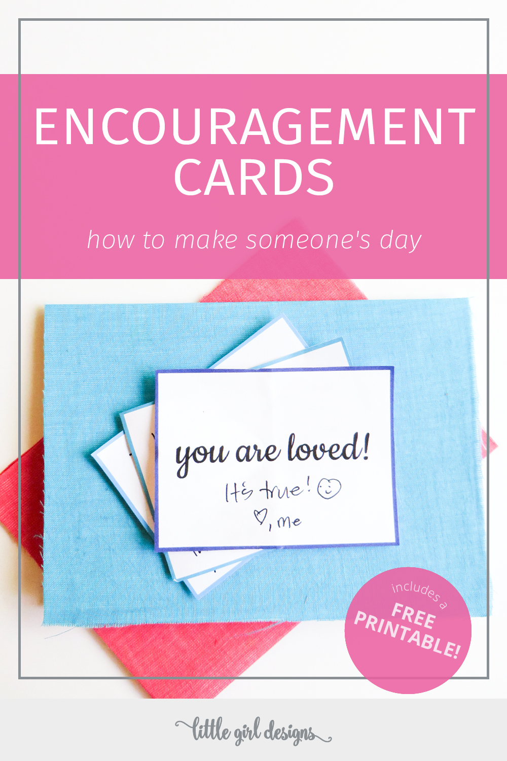 Encouragement Cards (Includes a Free Printable!) - a simple handmade gift for Valentine's or just because! I love tucking these into my husband's bag when he travels, and they also make great lunchbox notes.