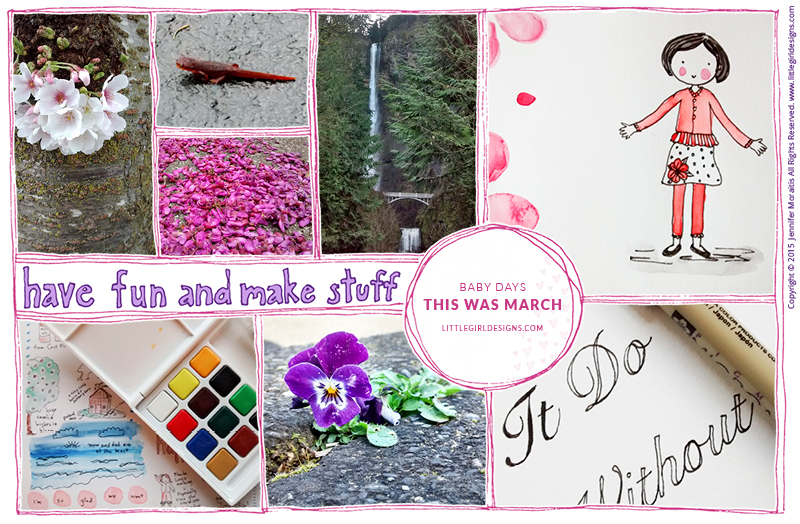 Baby Days - This Was March - a look back on March 2015 @littlegirldesigns.com