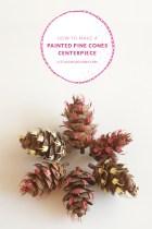 Painted Pine Cones Centerpiece