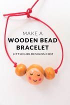 Make a Wooden Bead Bracelet