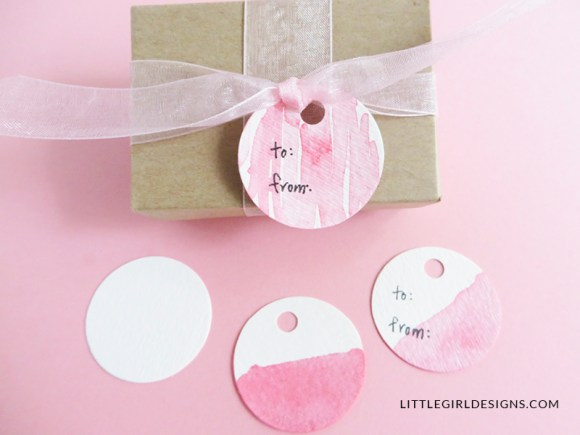 How to Make Homemade Gift Tags - Why buy gift tags when you can make your own in minutes? This also makes a fun kid's craft! via littlegirldesigns.com