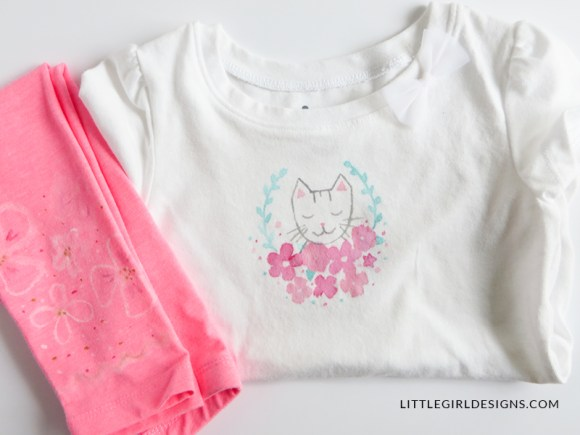 Tips and Ideas for Personalizing Little Girl's Clothing - You don't have to spend a fortune on cute little girl's clothes! By buying plain shirts and leggings and then decorating them, you can make really cute and unique clothes for your little girl!